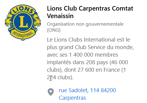 Lions Club Carpentras